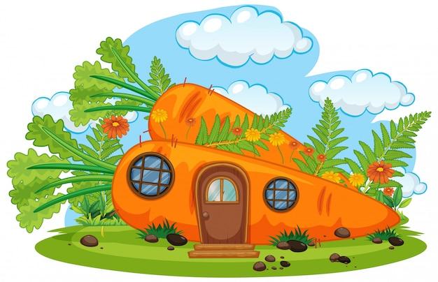 Casa de cenoura fantasia