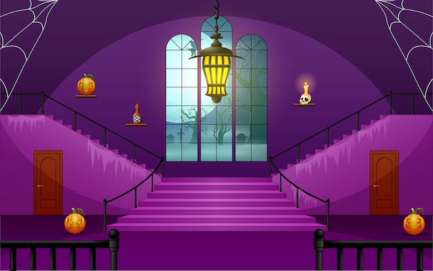 Casa de decoração do dia de halloween