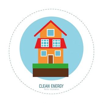 Casa de energia limpa casa verde