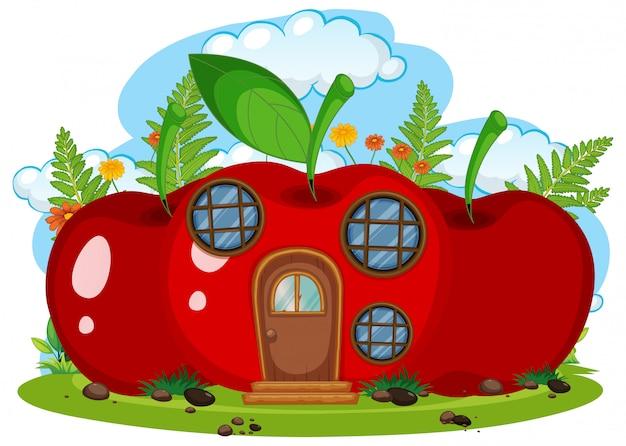 Casa de fruta fantasia isolada