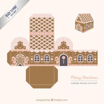 Casa de gengibre, corte caixa