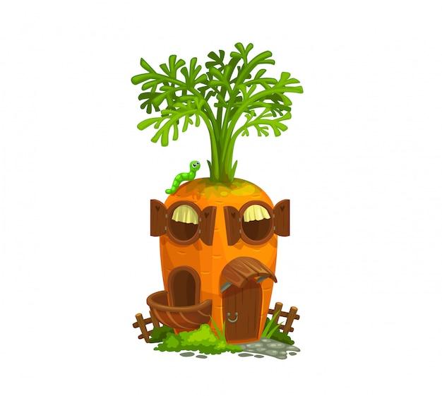 Casa de gnomo de cenoura dos desenhos animados,