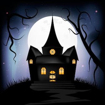 Casa de halloween realista