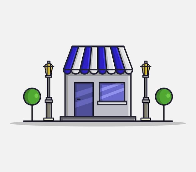 Casa de ilustração em estilo cartoon
