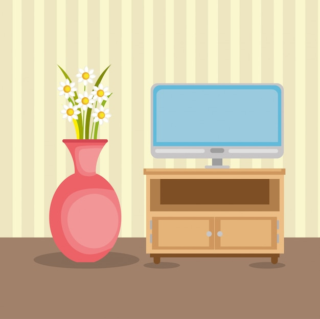 Casa de lugar de sala de televisão