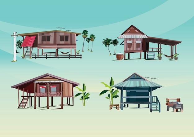Casa de madeira da asean