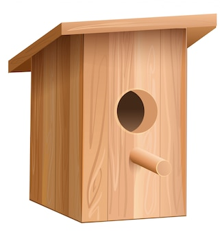 Casa de madeira para pássaros. caixa de aninhamento