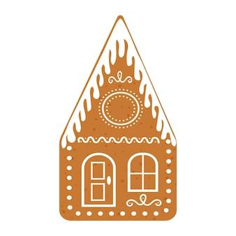 Casa de pão de mel com enfeite de vidro biscoito de natal