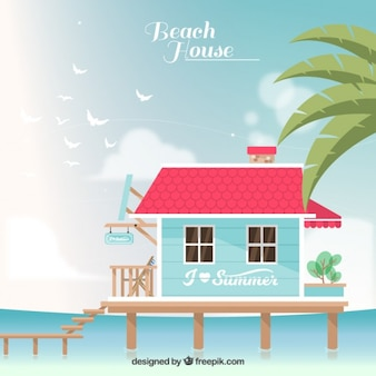 Casa de praia fundo