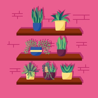 Casa decorativa plantas design de interiores