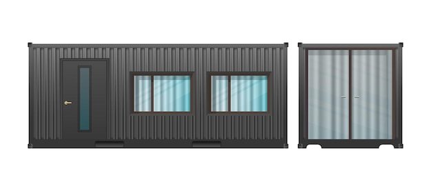 Casa do contêiner de carga preto