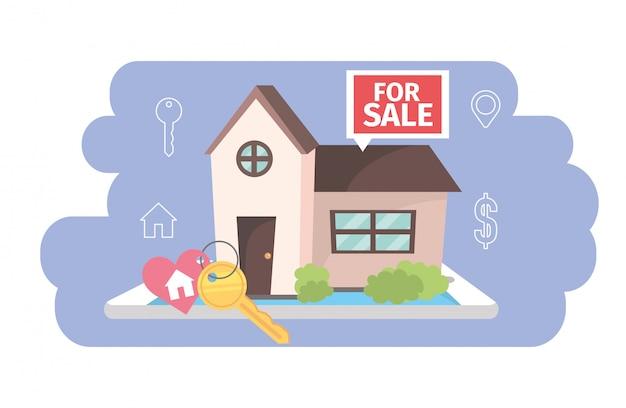 Casa do estado real para plano de venda