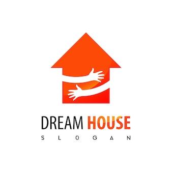 Casa dos sonhos, logotipo imobiliário