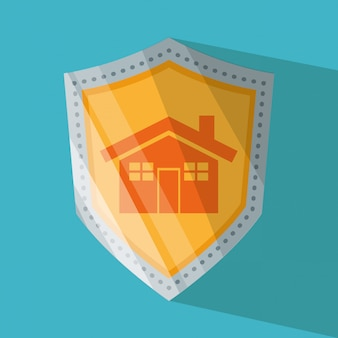 Casa e sistema de segurança