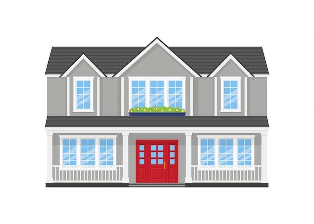 Casa, fachada da casa,