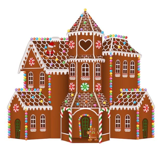 Casa grande de gengibre de natal