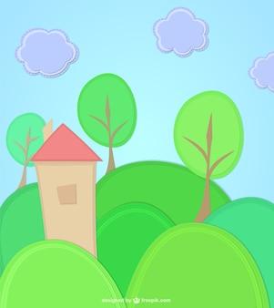 Casa ilustração vetorial Vetor grátis