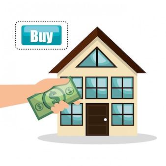 Casa imobiliária comprar projeto de conta