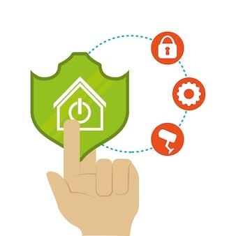 Casa inteligente casa conjunto de ícones