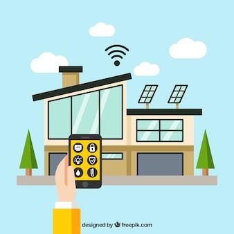 Casa inteligente com controle de smartphone
