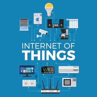 Casa inteligente e internet do conceito de coisas.