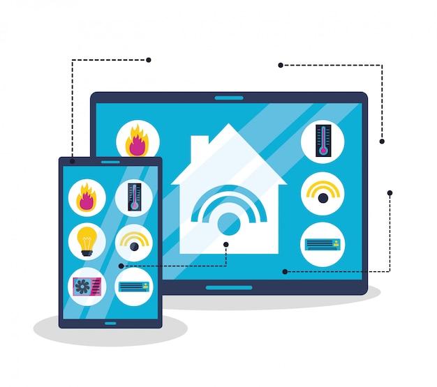Casa inteligente em estilo simples