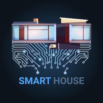 Casa inteligente tecnologia moderna de automação
