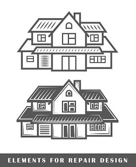 Casa isolada em fundo branco
