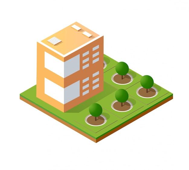Casa isométrica urbana