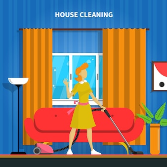 Casa limpeza ilustração de fundo