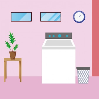 Casa, limpeza, lavanderia