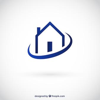 Casa logotipo Vetor Premium
