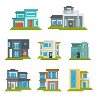 Casa moderna casa real estate set