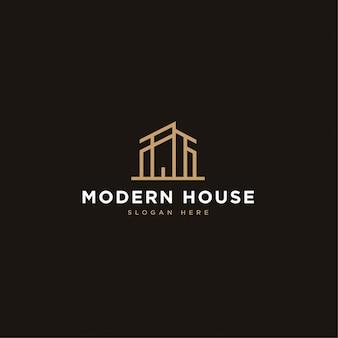 Casa moderna construção conceito de logotipo