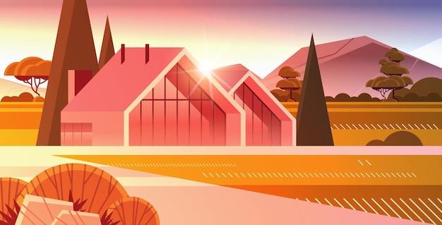 Casa moderna de painéis sanduíche com janelas panorâmicas construção de casas modulares ecologicamente corretas