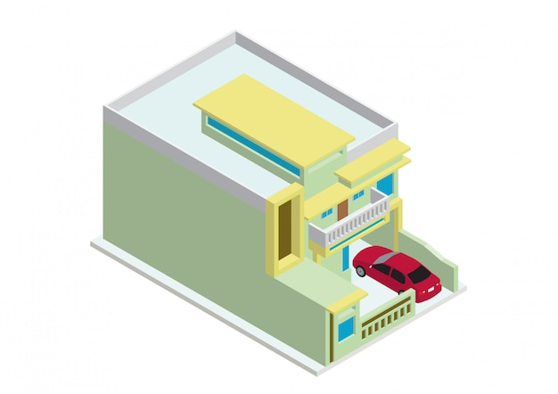 Casa moderna isométrica