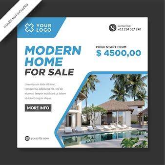 Casa moderna para venda com design de promoção instagram