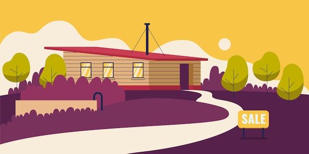 Casa moderna para venda ilustrada