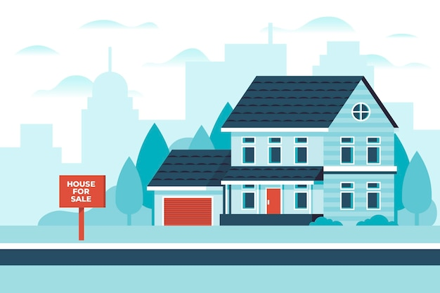 Casa para alugar ilustrada