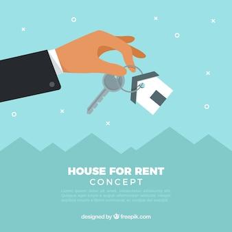Casa para aluguel conceito de fundo