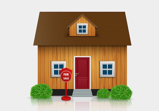 Casa para ilustração de venda