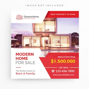 Casa para venda / modelo de banner imobiliário para promoção