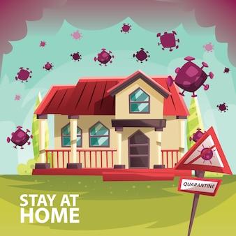 Casa restrita da pandemia de vírus corona