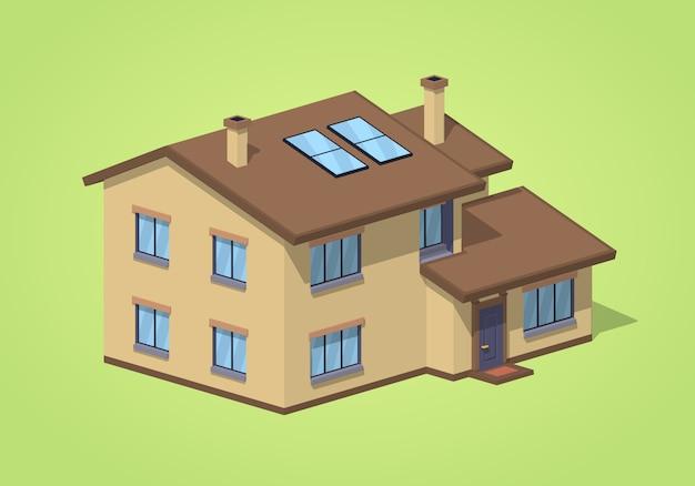 Casa suburbana baixa poli