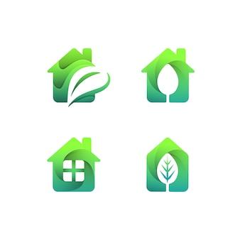 Casa verde logo set