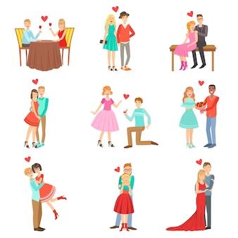Casais adultos em uma data