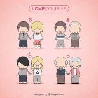 Casais bonitos do amor