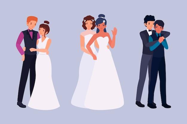 Casais casamento