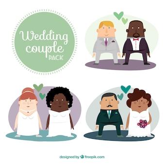 Casais de casamento pacote