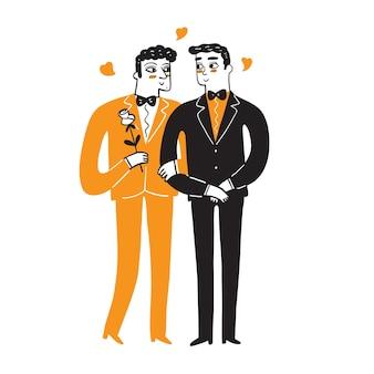Casais homossexuais celebrando o amor